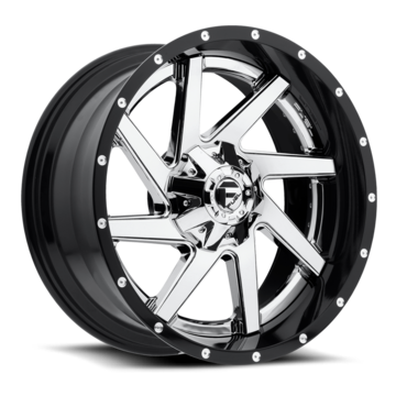 Fuel Renegade D263 Chrome Center with Gloss Black Lip Two Piece Off-Road Wheels