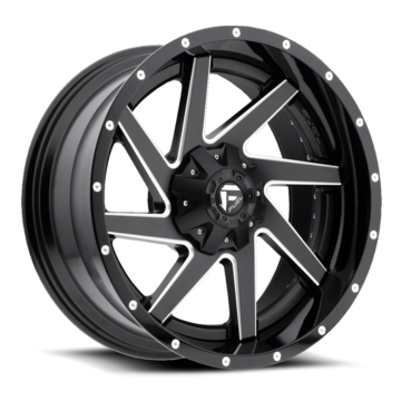 Fuel Renegade D265 Black and Milled Center with Gloss Black Lip Two Piece Off-Road Wheels