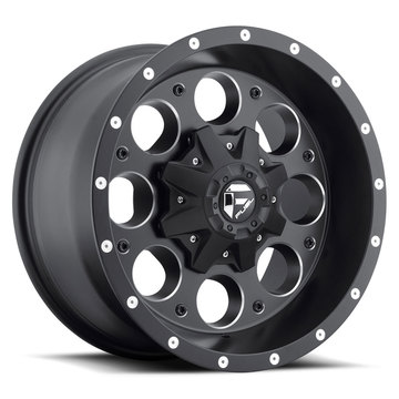 Fuel Revolver D525 Matte Black and Milled One Piece Off-Road Wheels