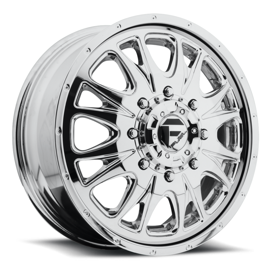 Fuel Throttle D212 Chrome Dually Two Piece Wheels - Front