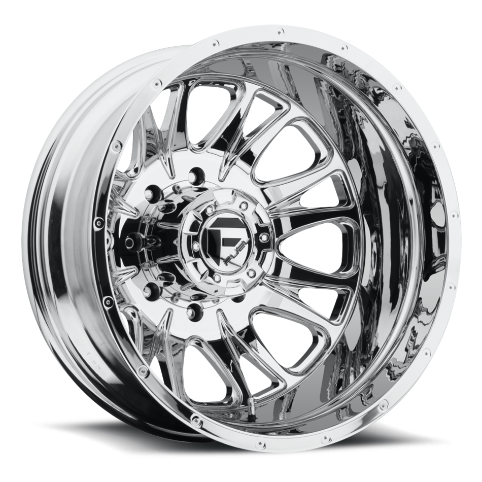 Fuel Throttle D212 Chrome Dually Two Piece Wheels - Rear