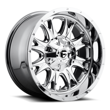 Fuel Throttle D512 Chrome One Piece Off-Road Wheels