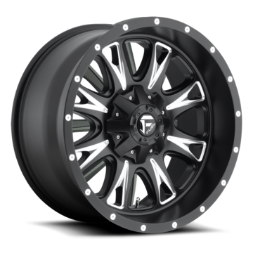 Fuel Throttle D513 Matte Black and Milled One Piece Off-Road Wheels