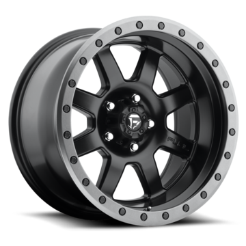 Fuel Trophy D551 Matte Black with Anthracite Ring One Piece Off-Road Wheels