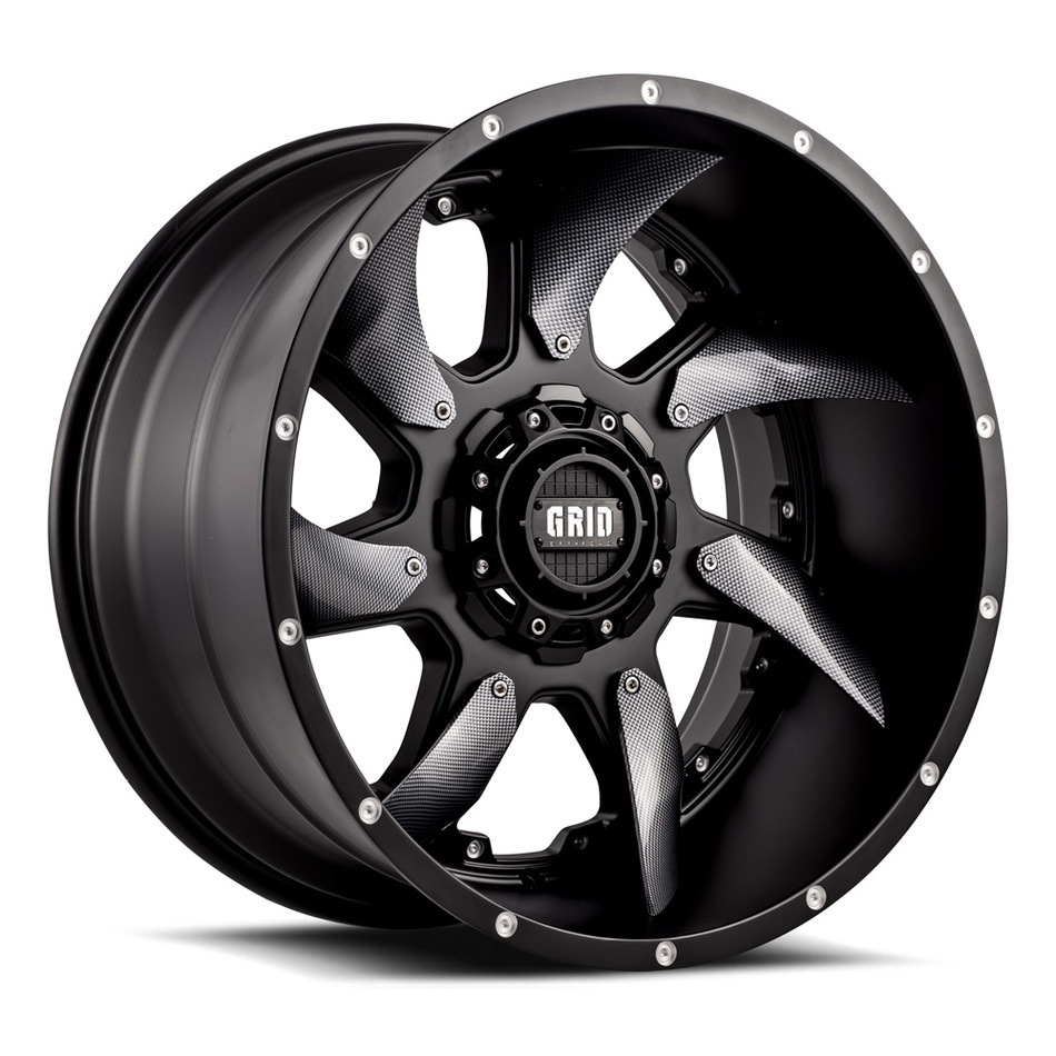 Grid Offroad GD1 Matte Black with Carbon Fiber Inserts Finish Wheels