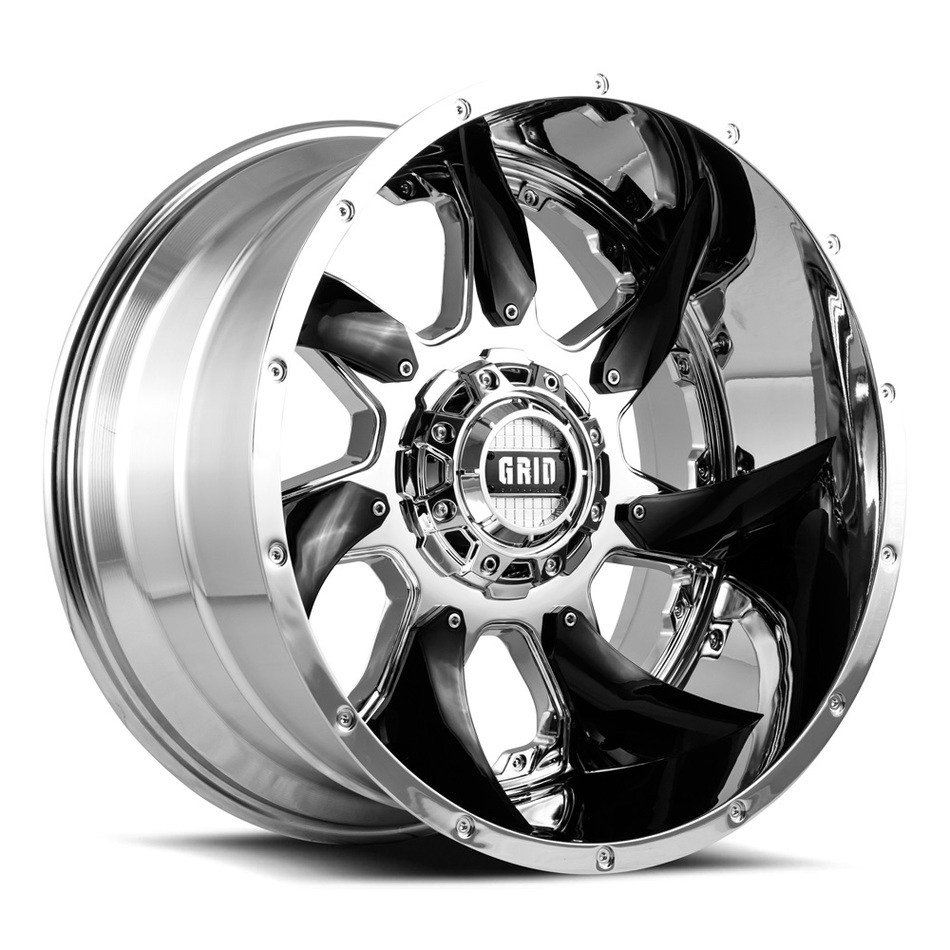 Grid Offroad GD1 Chrome with Chrome Inserts Finish Wheels