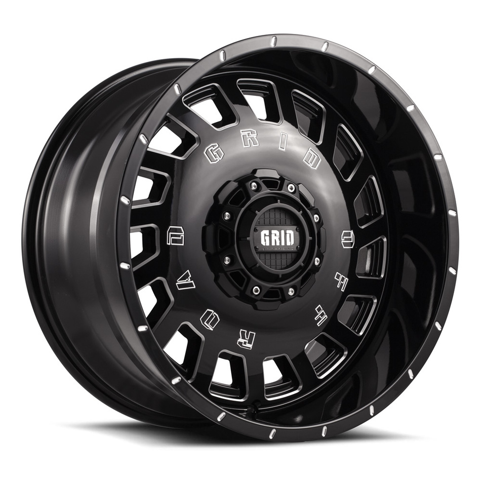 Grid Offroad GD3 Gloss Black with Machined Edge Finish Wheels