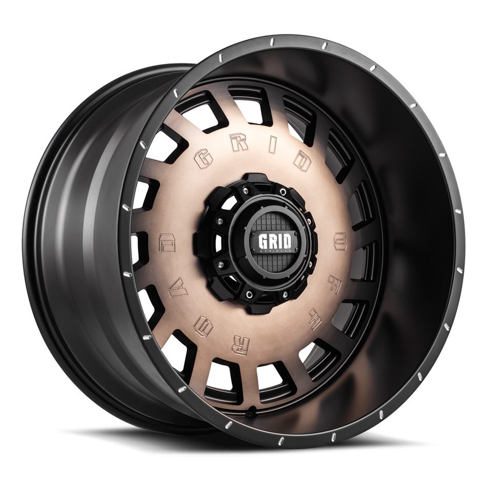 Grid Offroad Bronze with Black Lip Finish Wheels