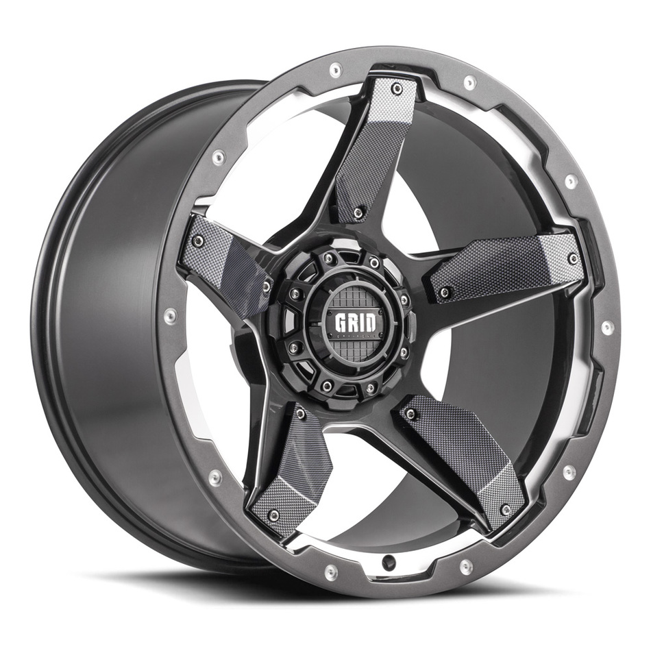 Grid Offroad GD4 Graphite with Carbon Fiber Inserts Finish Wheels