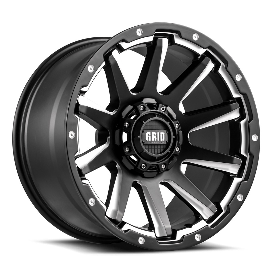 Grid Offroad GD5 Matte Black with Machined Finish Wheels