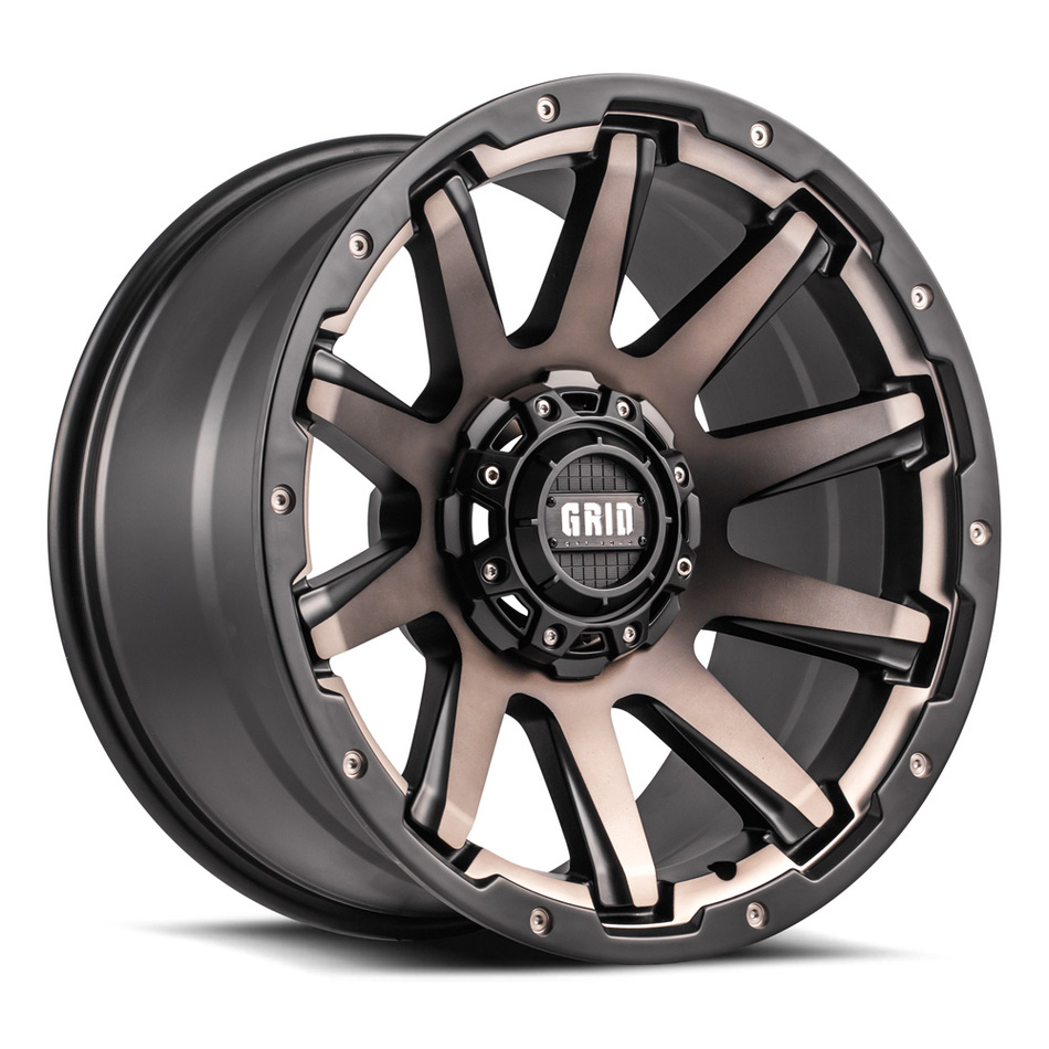 Grid Offroad GD5 Bronze Black Finish Wheels