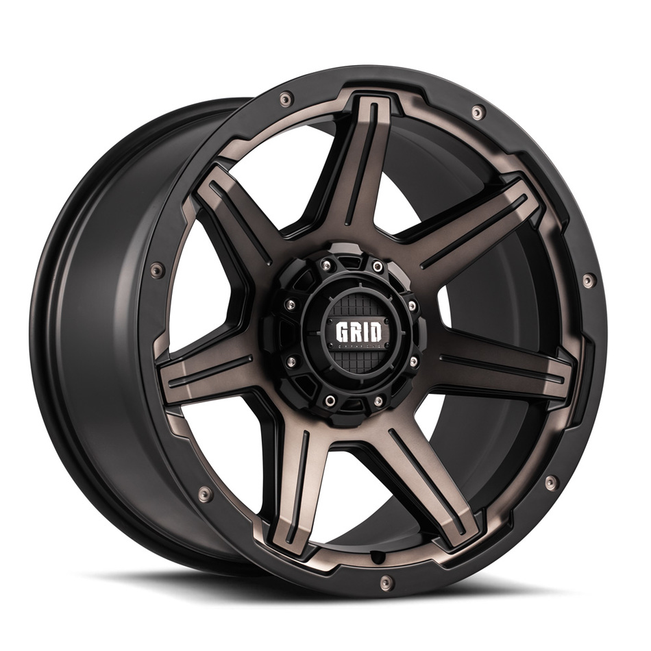 Grid Offroad GD6 Bronze Black Finish Wheels