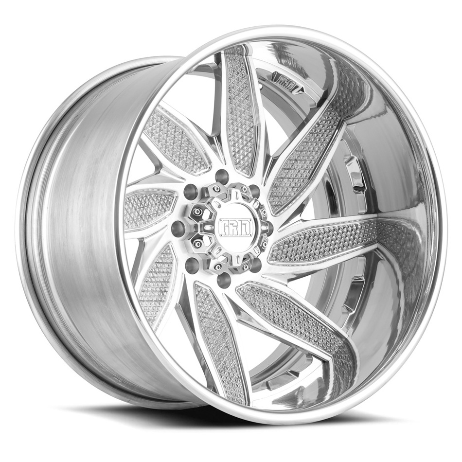 Grid Offroad GF6 Custom Brushed High Polish Finish Wheels