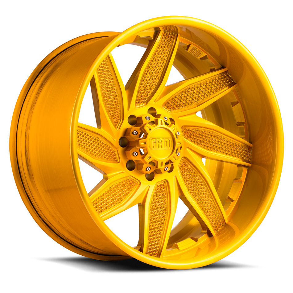 Grid Offroad GF6 Custom Brushed Gold Finish Wheels