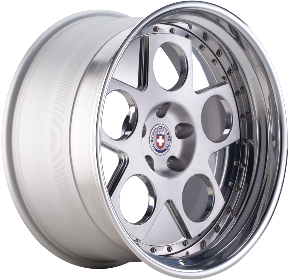 HRE 454 Satin Brushed Silver Face with Polished Lip Finish Wheels