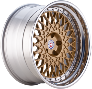 HRE 501 Satin Gold Face with Polished Lip Finish Wheels
