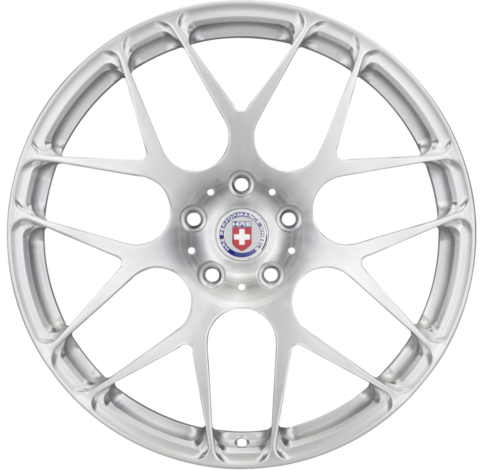 HRE P40 Brushed Clear Finish Wheels