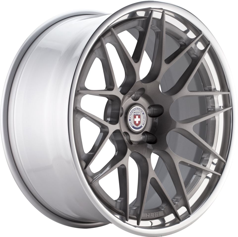 HRE RS100 Brushed Tinted Face with Polished Lip Finish Wheels