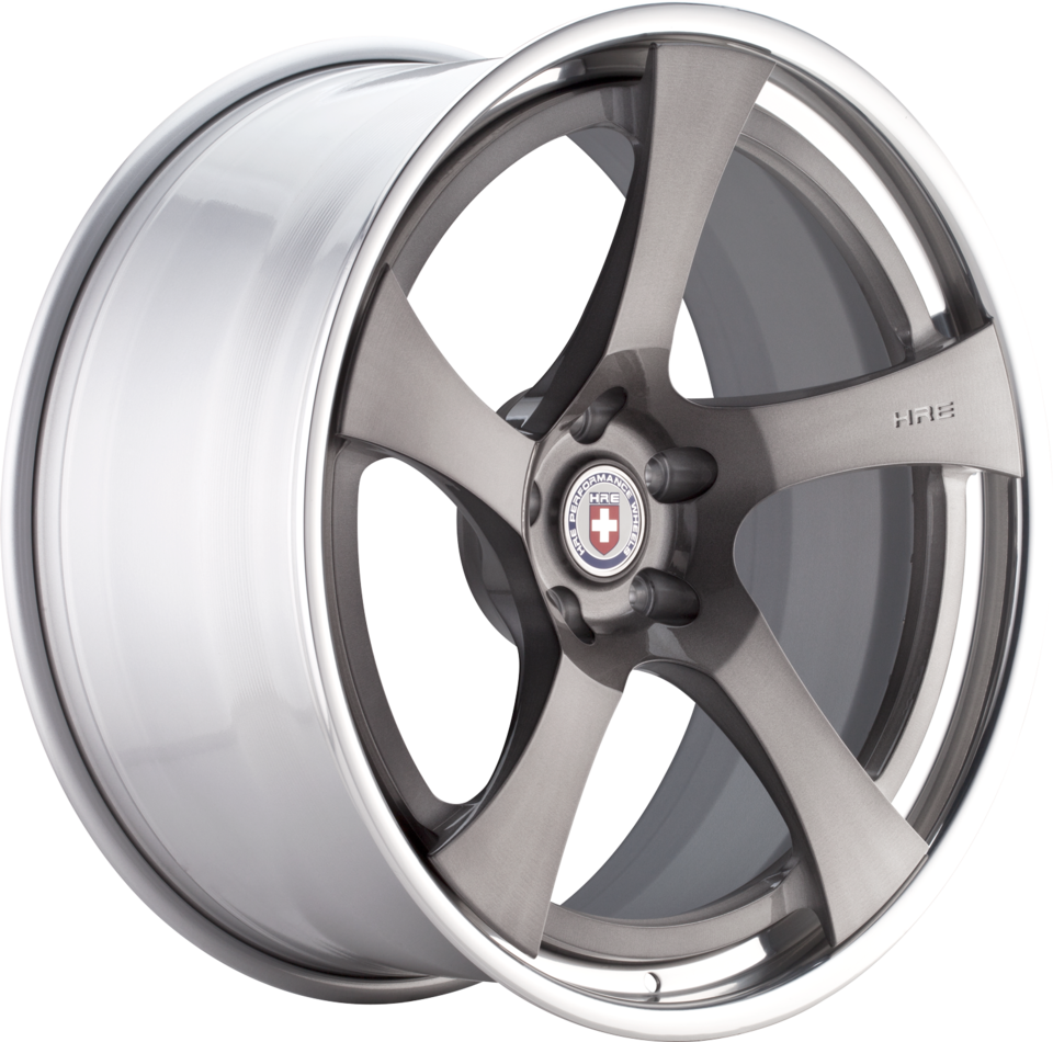 HRE RS102 Brushed Tinted Face with Polished Lip Finish Wheels