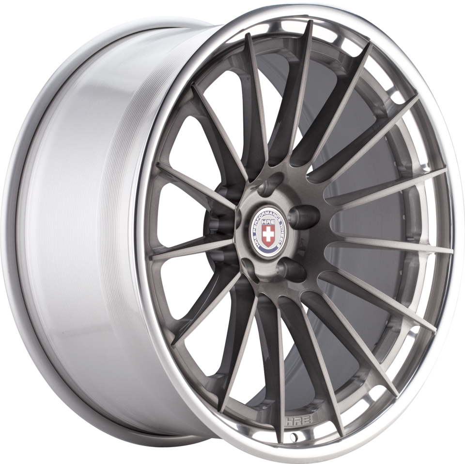 HRE RS103 Brushed Tinted Face with Polished Lip Finish Wheels