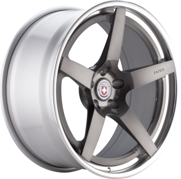 HRE RS105 Brushed Tinted Face with Polished Lip Finish Wheels