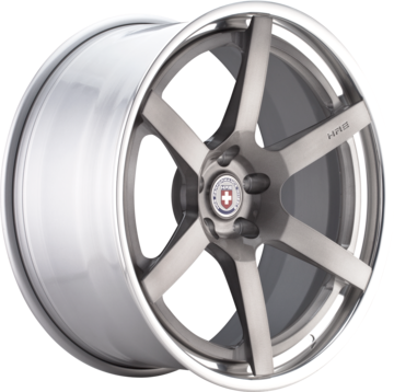 HRE RS106 Brushed Tinted Face with Polished Lip Finish Wheels