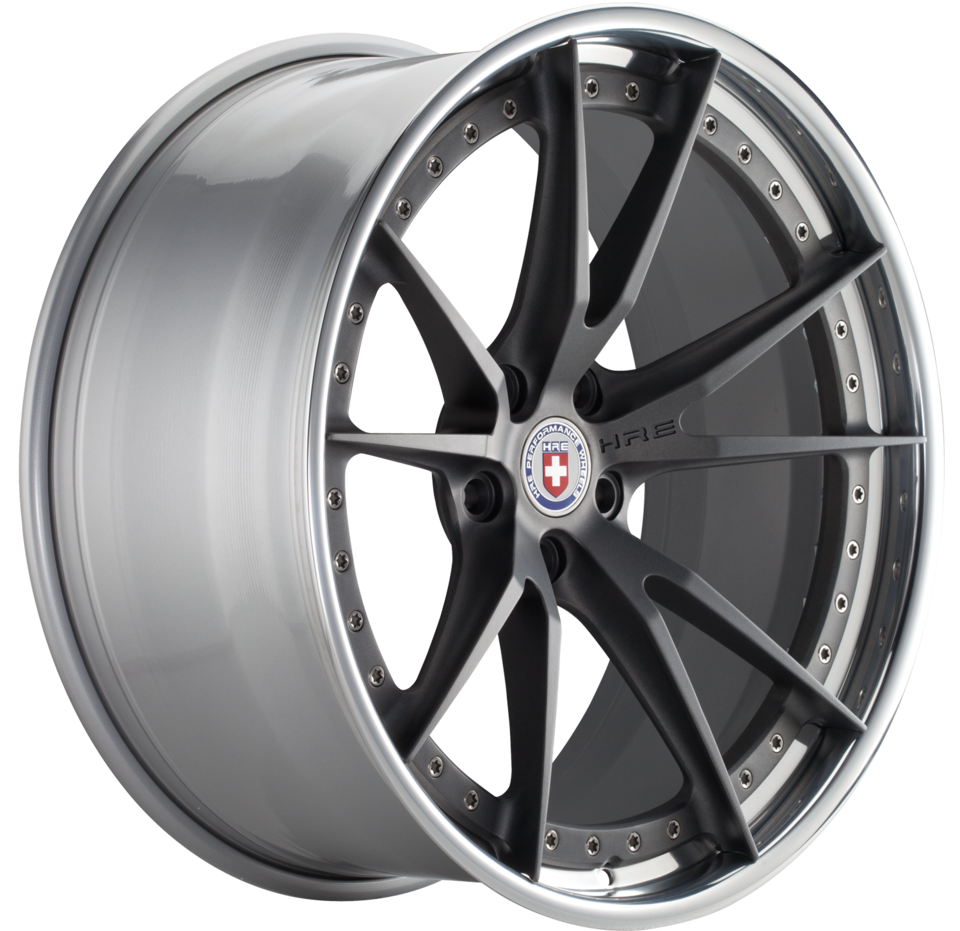HRE S104 Brushed Tinted Face with Polished Lip Finish Wheels