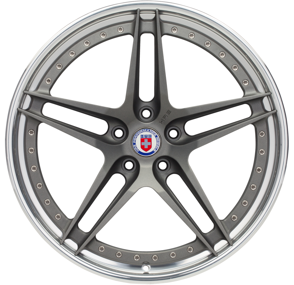 HRE S107 Brushed Tinted Face with Polished Lip Finish Wheels
