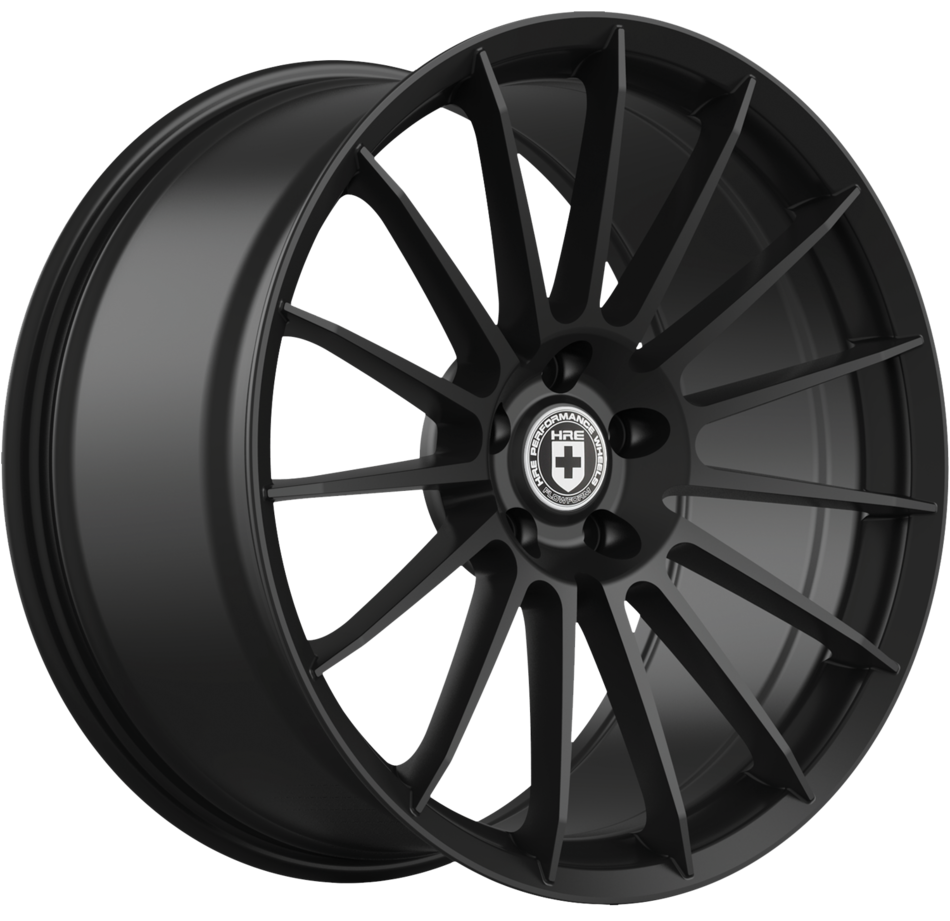 HRE FF15 FlowForm Matte Black Finish Wheels