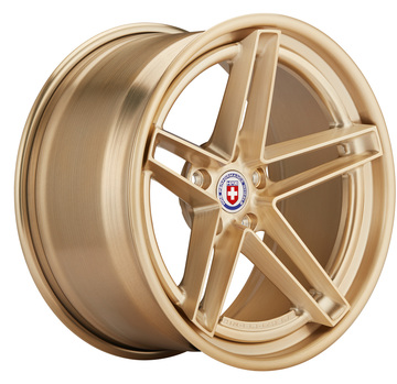 HRE G-Code Brushed Gold Center and Outer and Inner Ringbrothers Edition Wheels