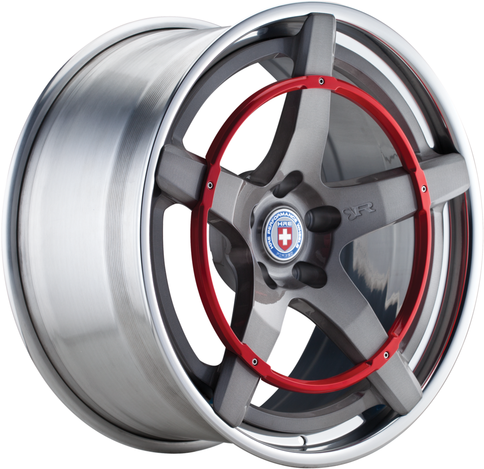 HRE Recoil with Red Ring 3-Piece Forged Wheels