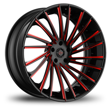 Lexani LF-119 Custom Black and Red Finish Wheels