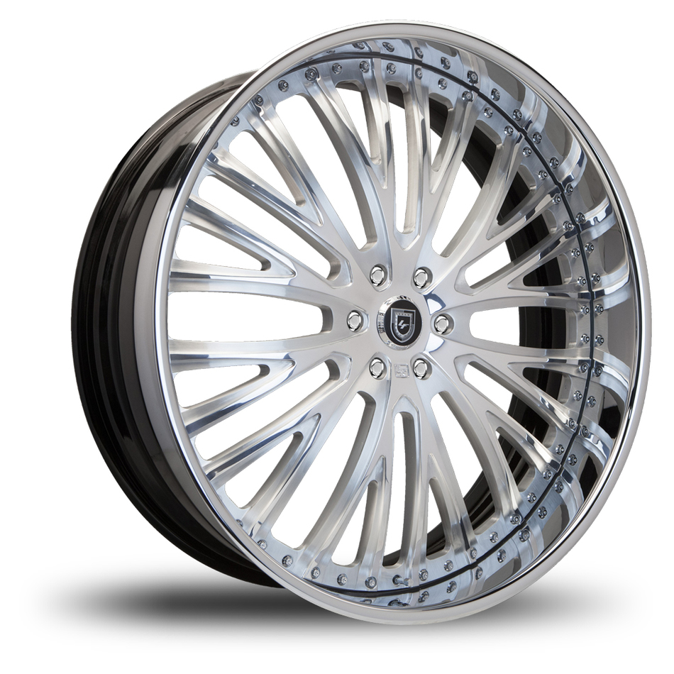 Lexani 713 Brushed and Chrome Finish Wheels