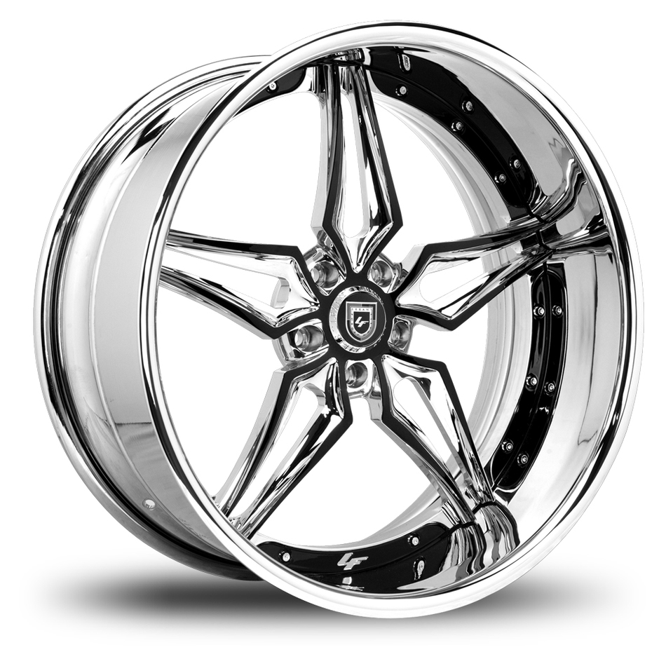 Lexani 733 Chrome and Black Finish Wheels