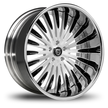 Lexani 734 Brushed and Black Finish Wheels