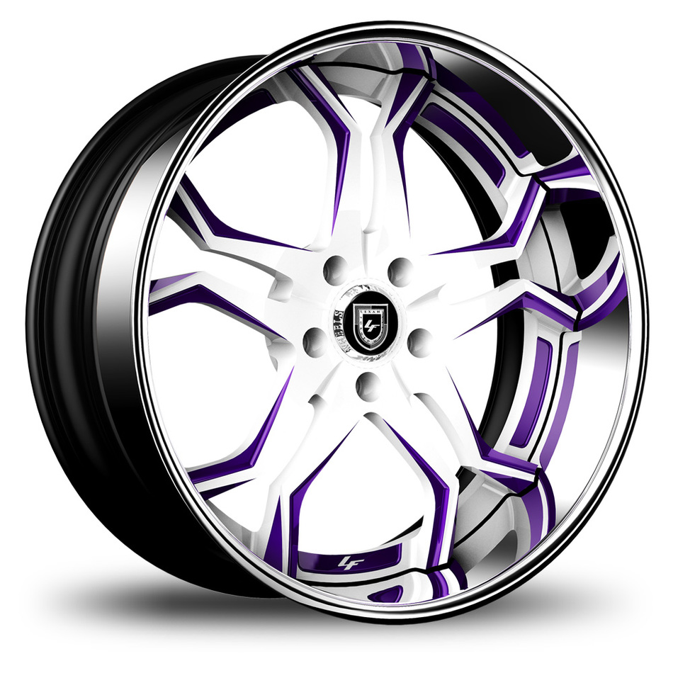 Lexani 752 Opal Custom White and Purple Finish Wheels