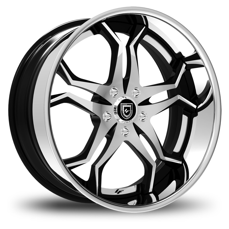 Lexani 752 Opal Custom Chrome and Black Finish Wheels