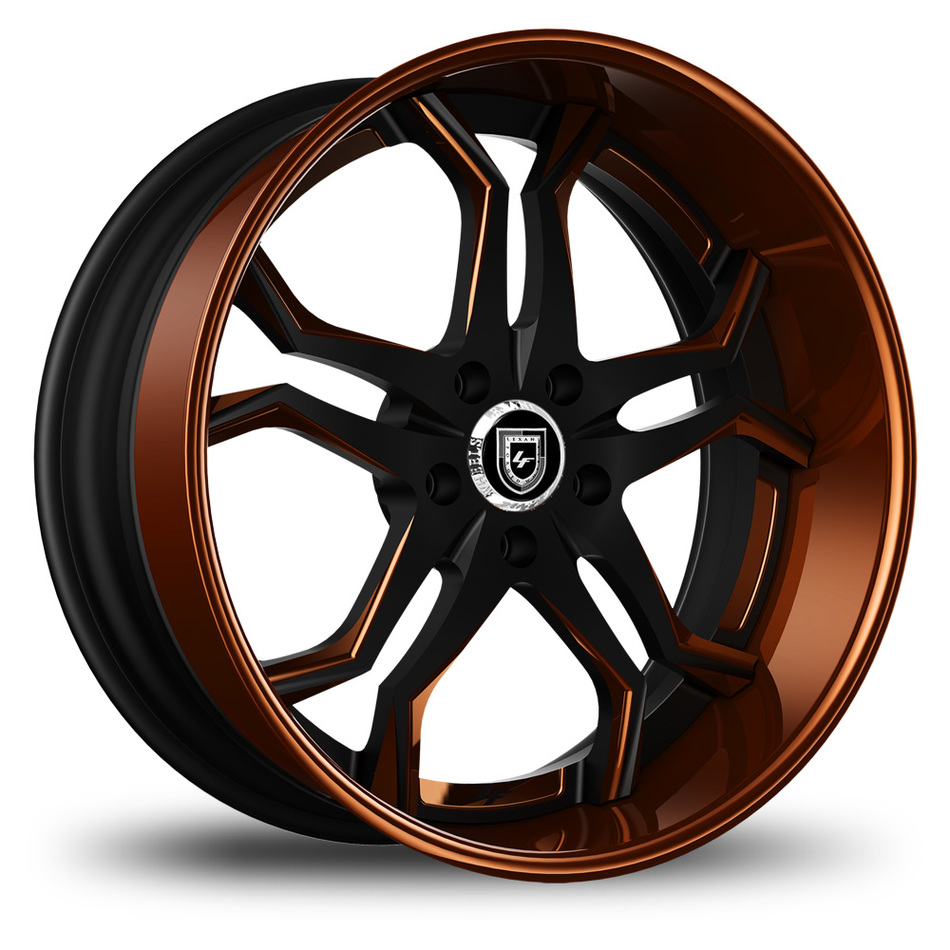 Lexani 752 Opal Custom Black and Brown Finish Wheels