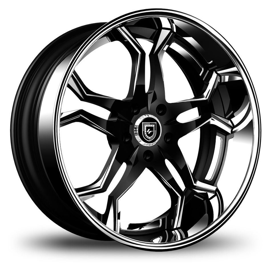 Lexani 752 Opal Custom Black with Chrome Accents Finish Wheels
