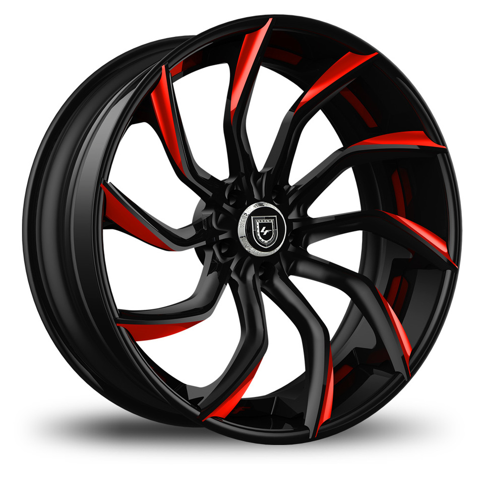 Lexani 753 Matiesse Custom Black and Red Finish Wheels