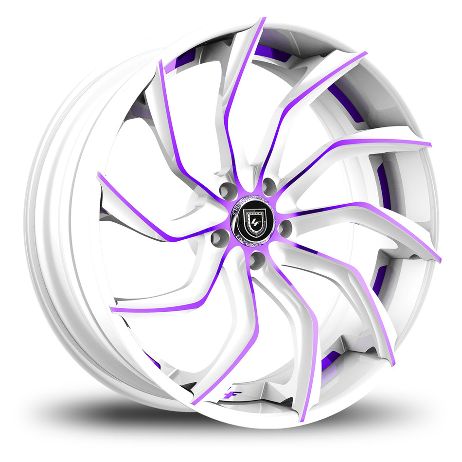 Lexani 753 Matiesse Custom White and Purple Finish Wheels