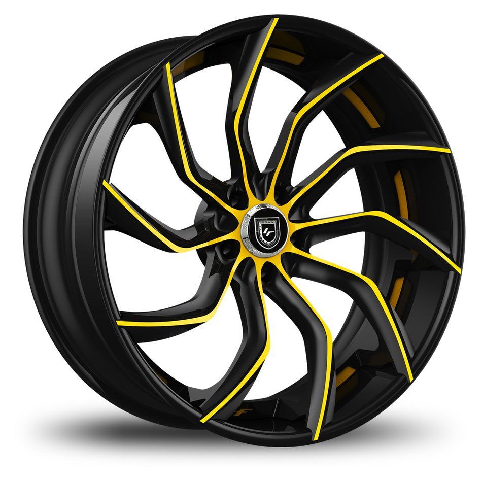 Lexani 753 Matiesse Custom Black and Yellow Finish Wheels