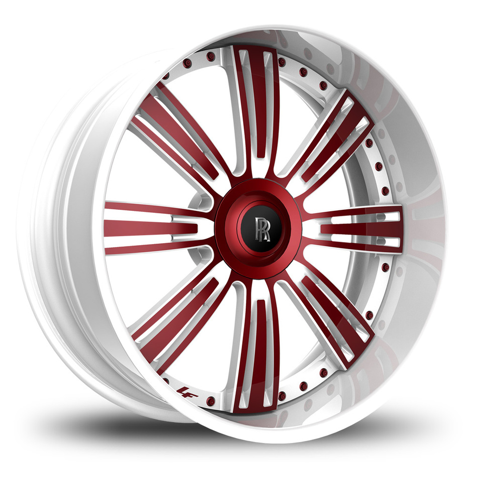 Lexani 755 Grino White and Red Finish Wheels