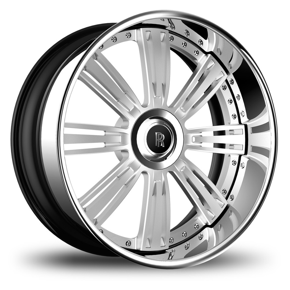 Lexani 755 Grino Brushed Center with SS Lip Finish Wheels