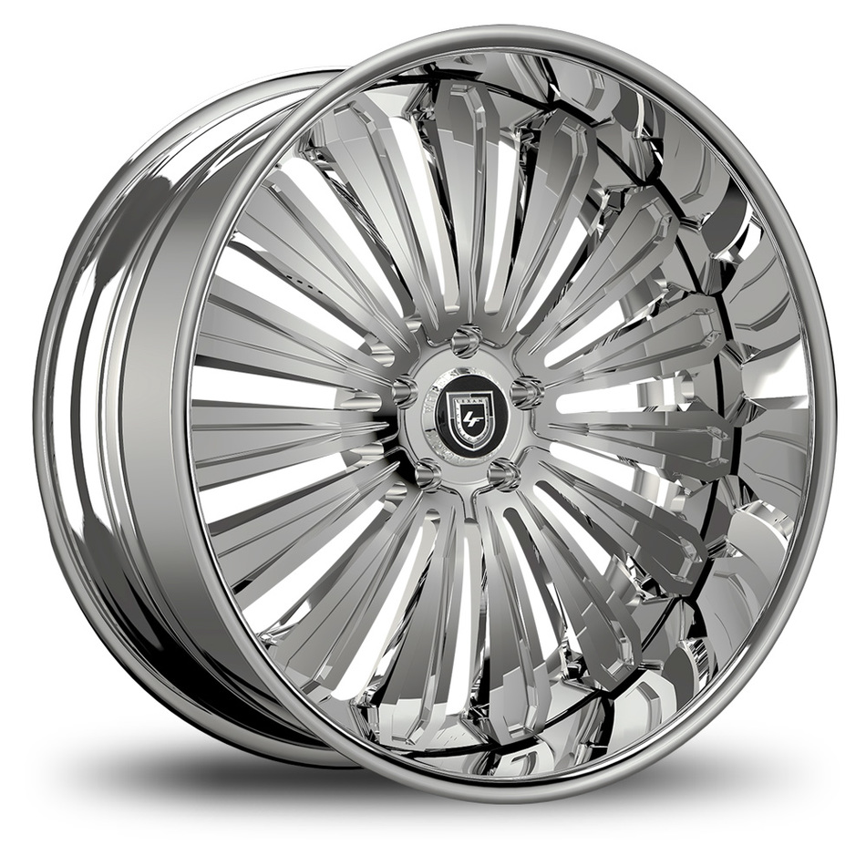 Lexani 757 Crypto Chrome Finish Wheels