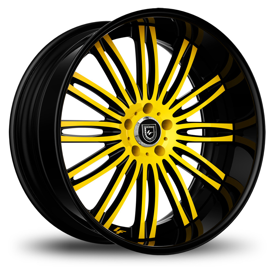 Lexani 758 Bison Custom Yellow and Black Finish Wheels