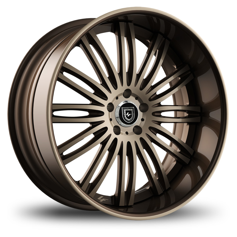 Lexani 758 Bison Custom Brown and Champagne Finish Wheels