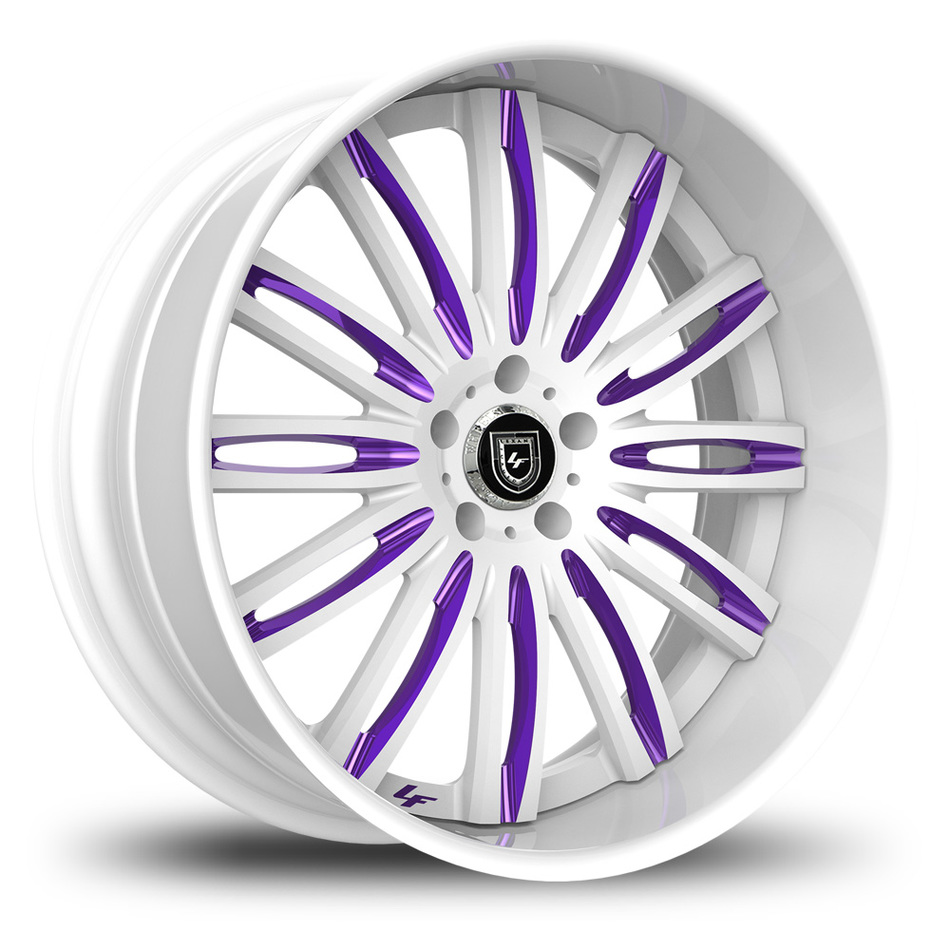 Lexani 758 Bison Custom White and Purple Finish Wheels