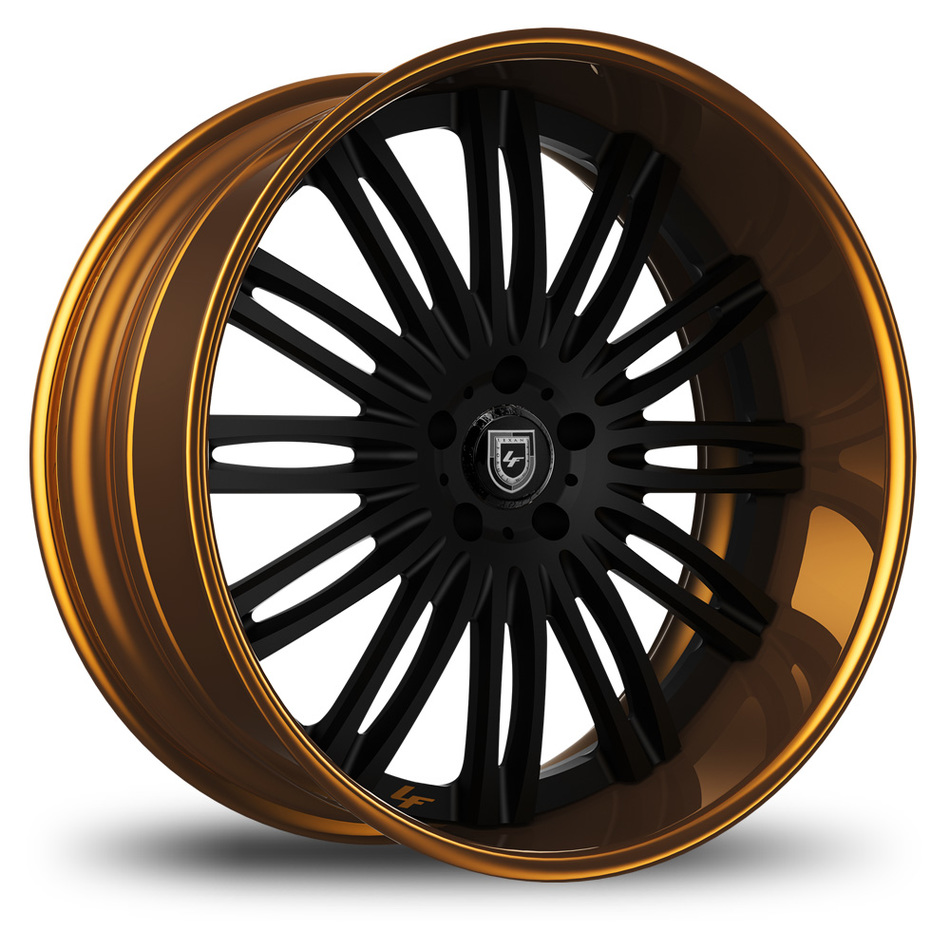 Lexani 758 Bison Custom Black and Gold Finish Wheels