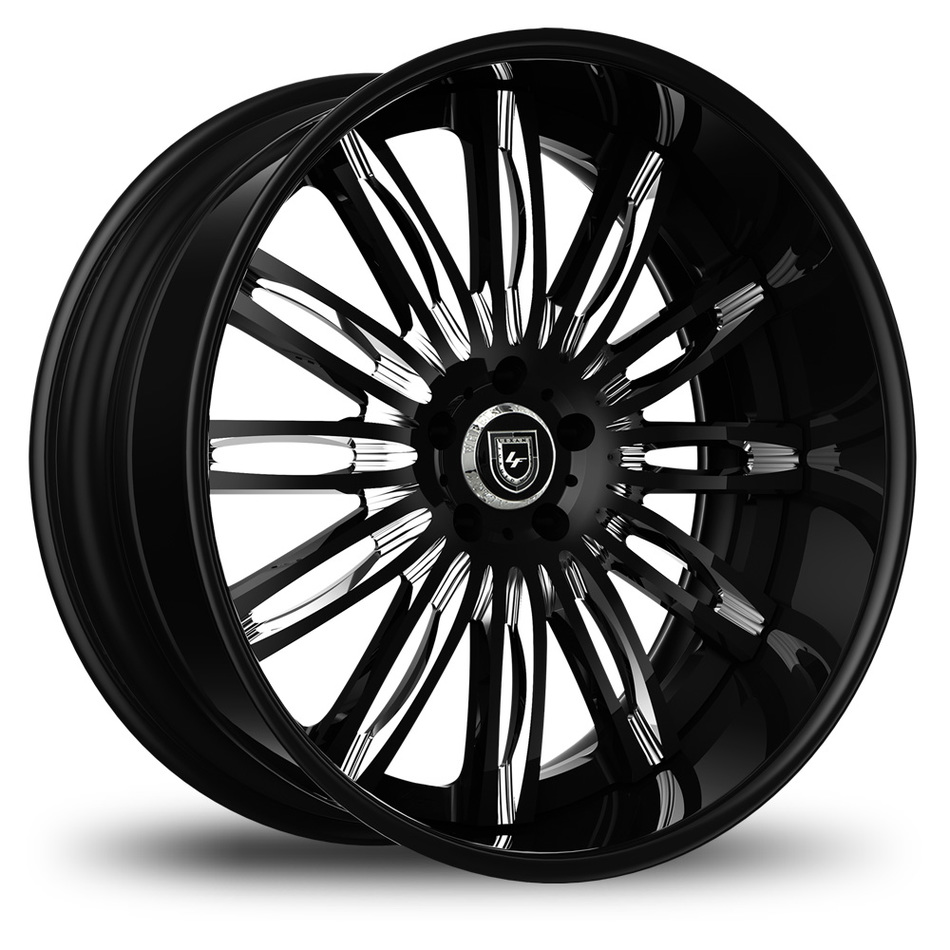 Lexani 758 Bison Custom Black and Chrome Finish Wheels